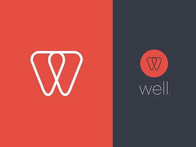 Well v2 well simple logo brand visual identity w