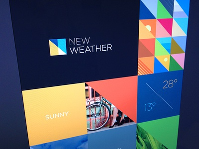 New weather brand exploration branding design. logo colourful colour mood board triangles