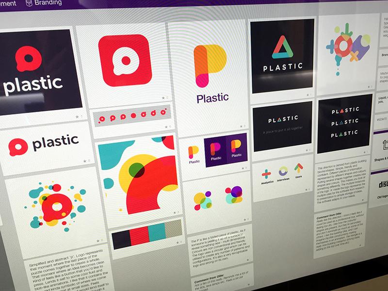 Plastic branding round 2 color refine identity colorful brand logo plastic