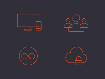 Milanote software feature icons