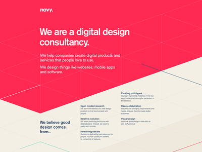 One from the archive triangles geometric design branding website