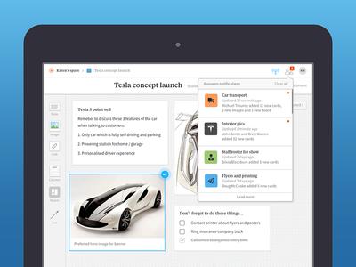 Milanote interface design
