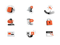 Illustration exploration milanote 3d icons design duotone simple texture vector illustration