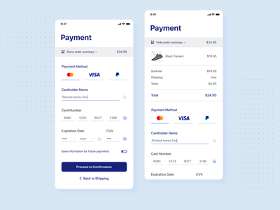 Daily UI 002 • Mobile Checkout minimalist userinterface simple clean ui clean web mobile ui checkout page order payment cart checkout mobile iphone ui signup figma design