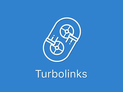 Daily UI 005 • Icon Concept (Turbolinks) flaticon branding logo vector turbo link app icon simple clean ui figma design