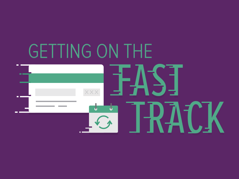 Fast Track Imagery typography recurly promotion promo webinar recurring subscription credit card motion blur fast track speed movement