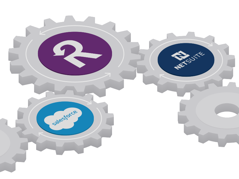 Recurly Integrations diagram plug-in recurring saas recurly netsuite salesforce integrate gears integration