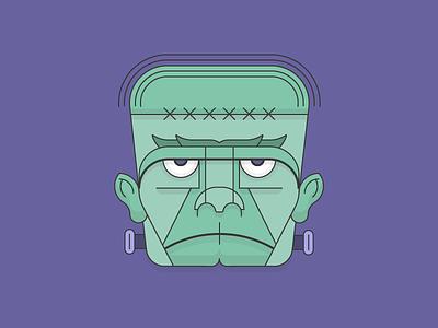 Frankenstein mary shelley victor illustration dracula goth grim halloween devil monster frankenstein