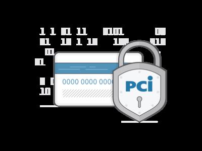 Security at Recurly illustration padlock lock subscription b2b safe credit card info data pci credit card security