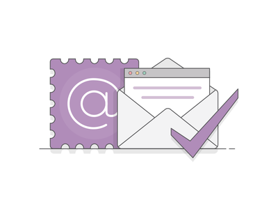 Email Preferences browser enterprise b2b subscription confirm check mark mail envelope email e-mail