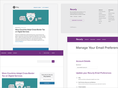 Recurly Blog Sign Up sign up manage preferences e-mail email subscription blog