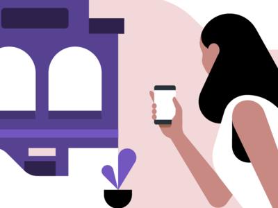 Uber Vouchers illustration rideshare plants retail uber for business uber b2b enterprise