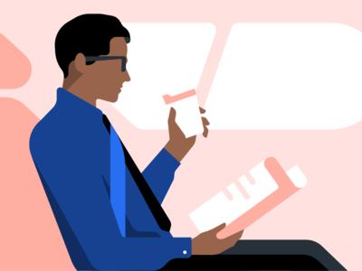 Uber business rides commute rides passanger newspaper business man b2b illustration enterprise