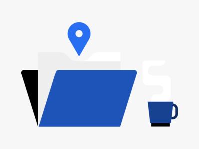 Empty state illustration enterprise b2b location coffee folder empty page emptystate