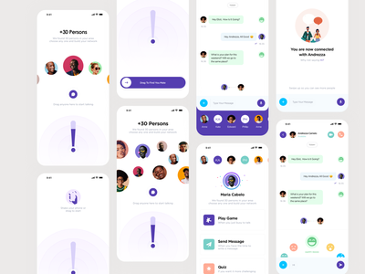 Charla Chatting App drawing white app design symbol sketch space abstract animation app interface art typography illustration pic designe interaction ui ux picture design