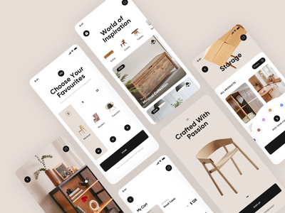 Furniture App design ui ux picture interaction designe interface pic slide typography art web colors vector app icon flat type minimal concept