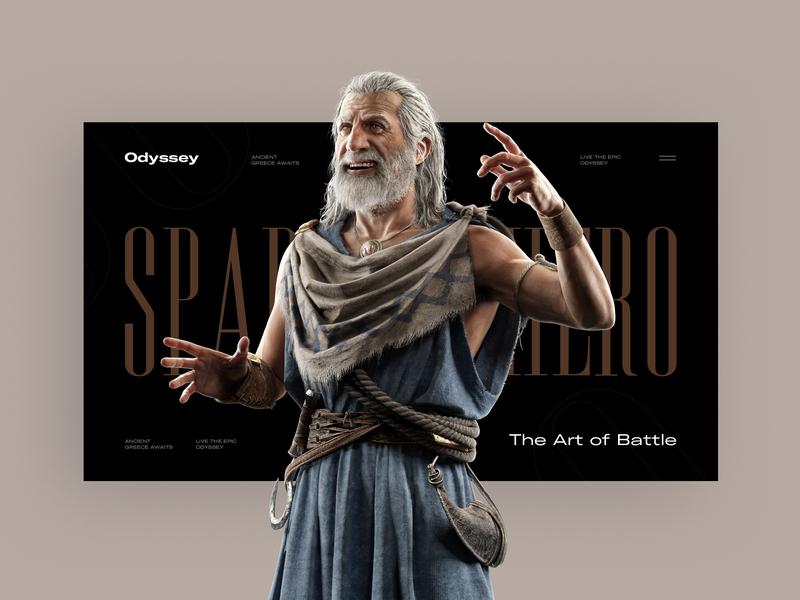 Odyssey concept vector app black colors typography pic art web interface designe slide interaction picture ux ui design