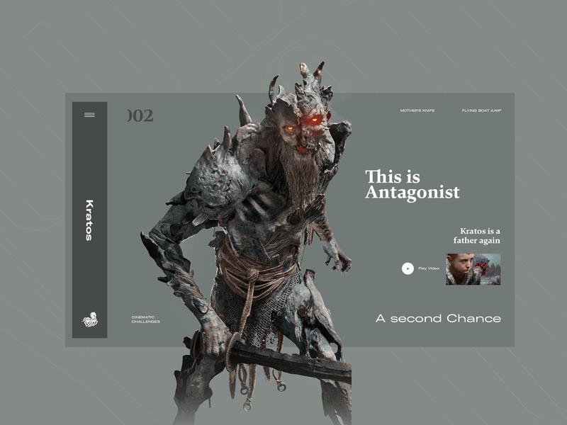 God Of War branding logo concept vector colors web typography art pic slide interface designe interaction ui ux picture design