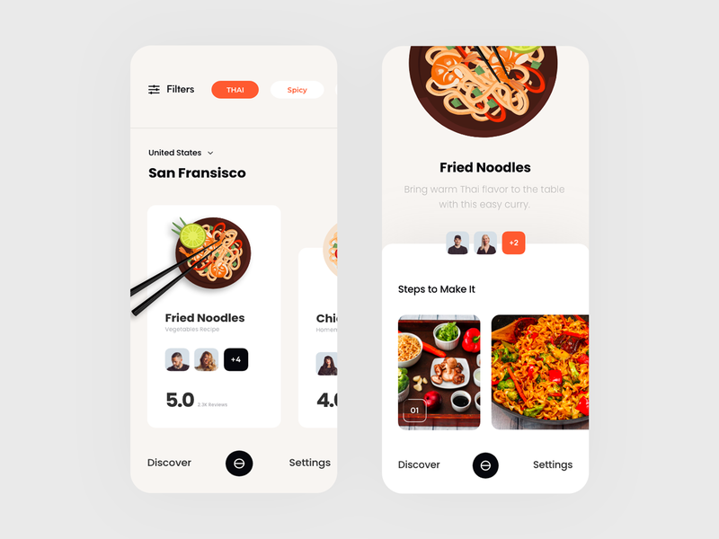 Food Finder animation logo icon app concept black vector colors web typography slide pic art interface designe interaction picture ui ux design