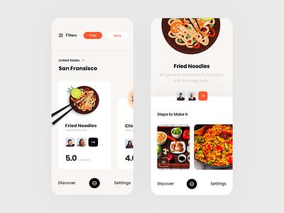 Food Finder animation logo icon app concept black vector colors web typography slide pic art interface designe interaction picture ui ux design