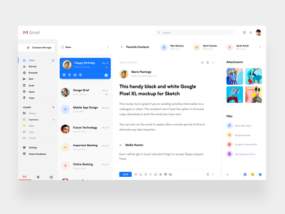 Gmail Redesign Concept