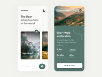 Adventure Trips colors concept flat icon app illustration web art typography slide pic interface designe interaction picture ux ui design abstract 2d