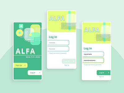 DailyUI #1: Log In Screen branding ui product design mobile design app