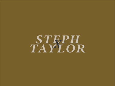 Steph and Taylor Green Reversed typography website design branding