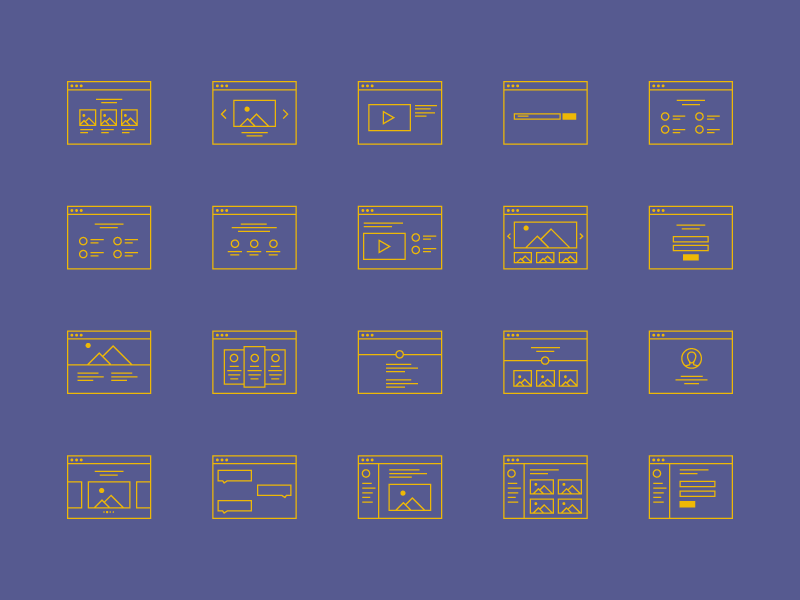 FREEBIE! Wireframe Icon Set eps vector ai color web browser set icon wireframe freebie free