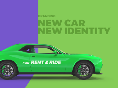 Branding strategy for Rent a Ride car rental service identity startup simple clear bright business cards letterhead branding car