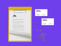 letterhead and business cards for Rent a Ride car rental service