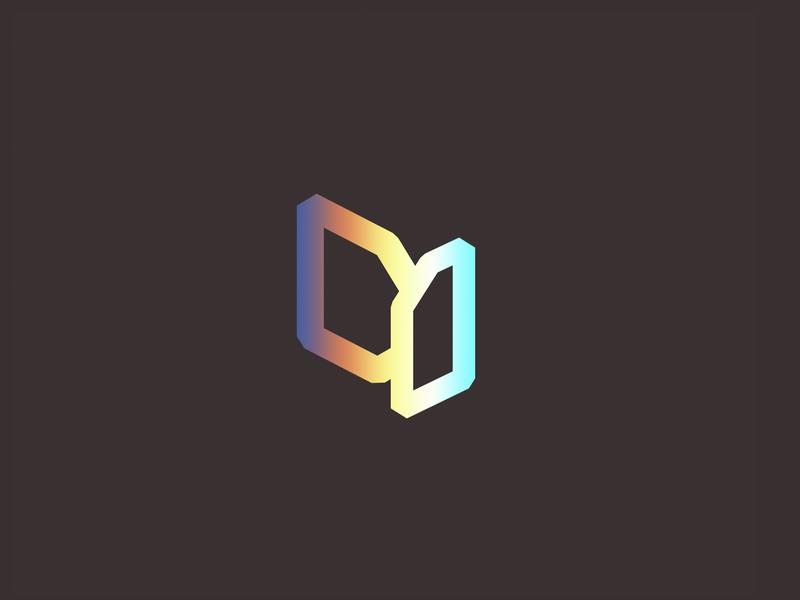 Destination one blockchain graphic design graphic gradient branding identity clear flat logo