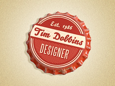 Bottle Cap Logo red vintage logo bottle cap logo tim dobbins