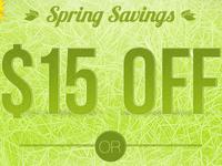 Spring Savings Promo