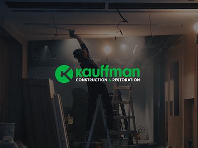 Getting things constructed & restored wordmark monogram elegant clean brand branding design logo