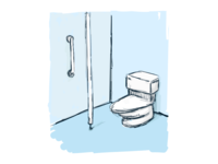 Drew a bathroom for a thing.