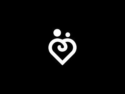 What Rejection Looks Like couple heart mark design logo