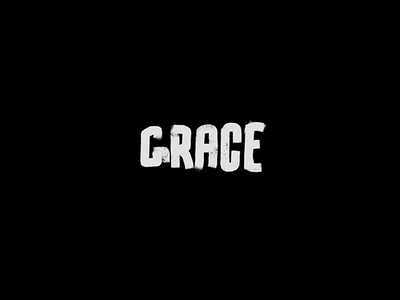 Show some grace lettering design paintbrush branding type logo grace letters word