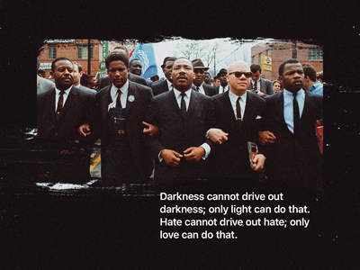 MLK gets two posts—of course. activism message darkness dark martin luther king jr mlk quote typogaphy photograph photography design
