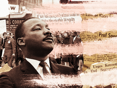 A collage for Dr. King texture textured brush brush strokes brushes art collage art graphic design collage