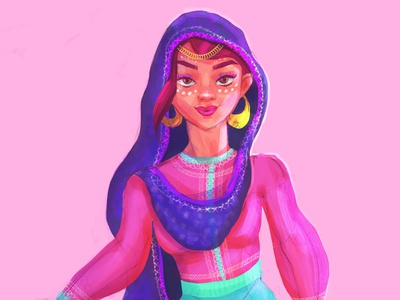 Arabian princess female sketching drawing illustration design illustraion character design