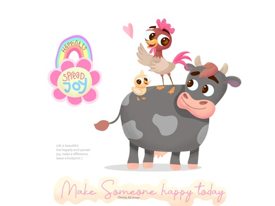 The happy farm kid new artwork illustrator vector children cartoon design illustraion character design