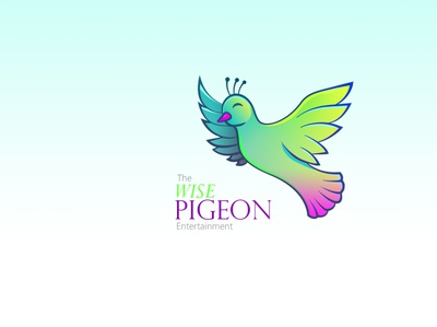 The wise pigeon brand logo
