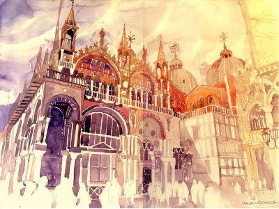 Venezia venezia majawronska majatakmaj watercolor architecture