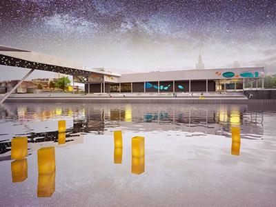 Warsaw City Aquarium architecture aquarium architect design museum city river
