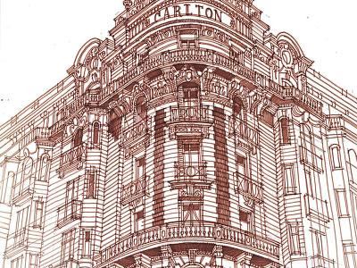 Carlton takmaj maja wronska majatakmaj architecture architect sketch illustration drawing architectural sketches