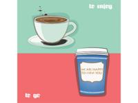 Coffee. To enjoy vs to go. Bilbao-New York