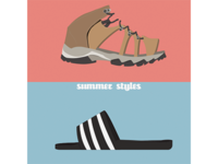 Summer styles. Bilbao vs New york.