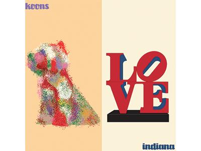 Puppy vs Love. Koons vs Indiana. bilbao vs new york.