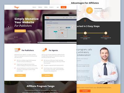 Affiliate Program homepage minimal flat design webdesign ui clean landing page
